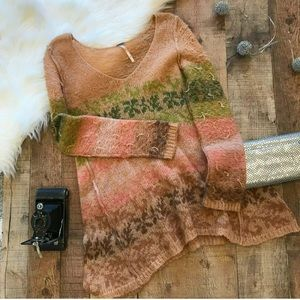 Free People | Striped Lightweight Sweater Sz S